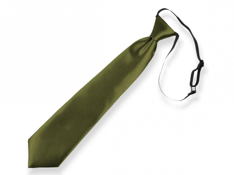Doplňky pro děti a družičky - Dětská kravata khaki