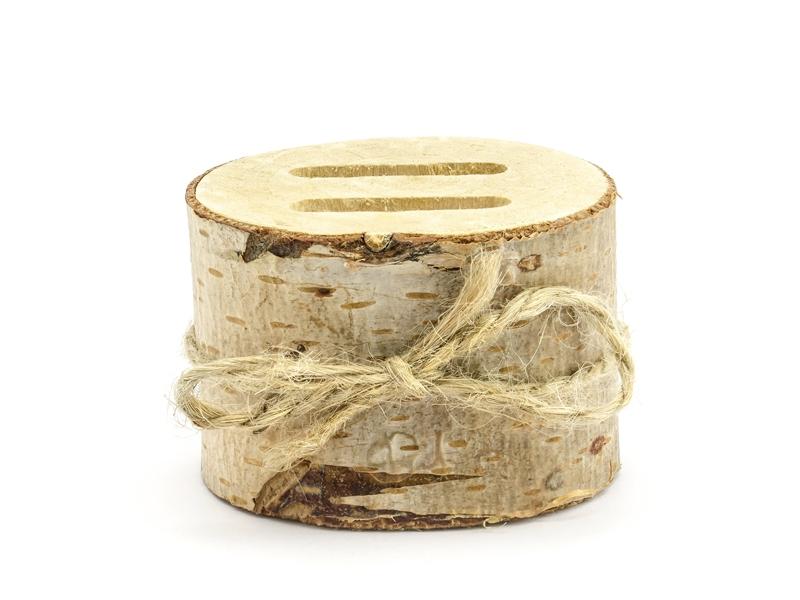 Polštářky pod prstýnky - Dřevěný špalíček na prstýnky