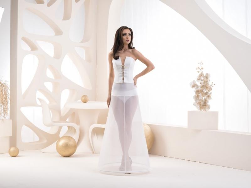 Doplňky pro nevěstu - Jednokruhová spodnice s elastickým pasem - obvod 220 cm