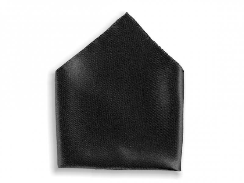 Doplňky pro ženicha - Kapesník do saka černý