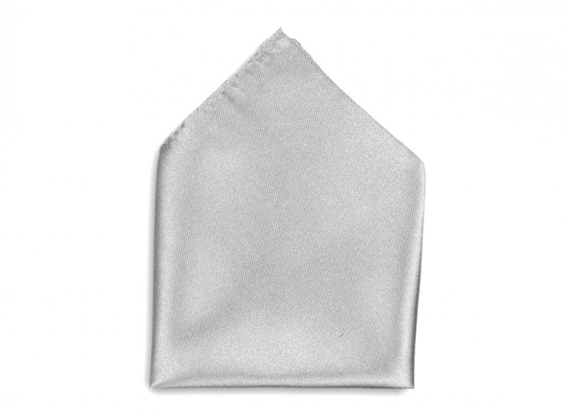 Doplňky pro ženicha - Kapesník do saka stříbrný