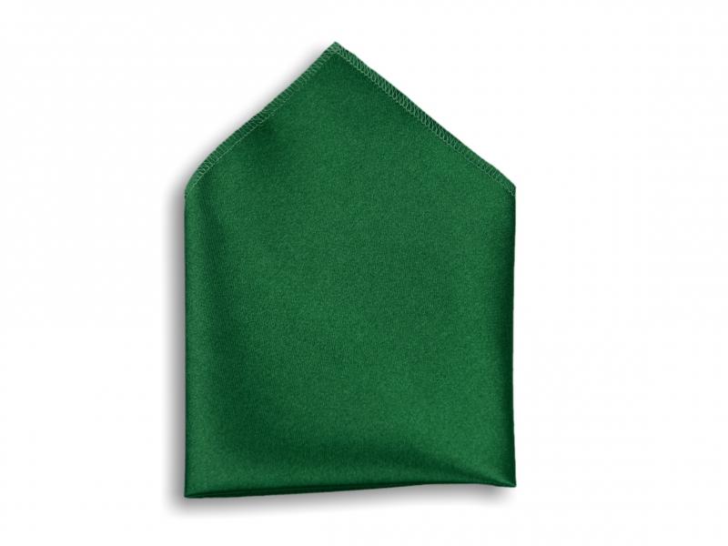 Doplňky pro ženicha - Kapesník do saka tmavě zelený