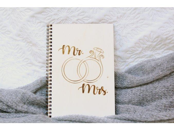 Svatební diáře a deníky - Poznámkový blok pro nevěstu