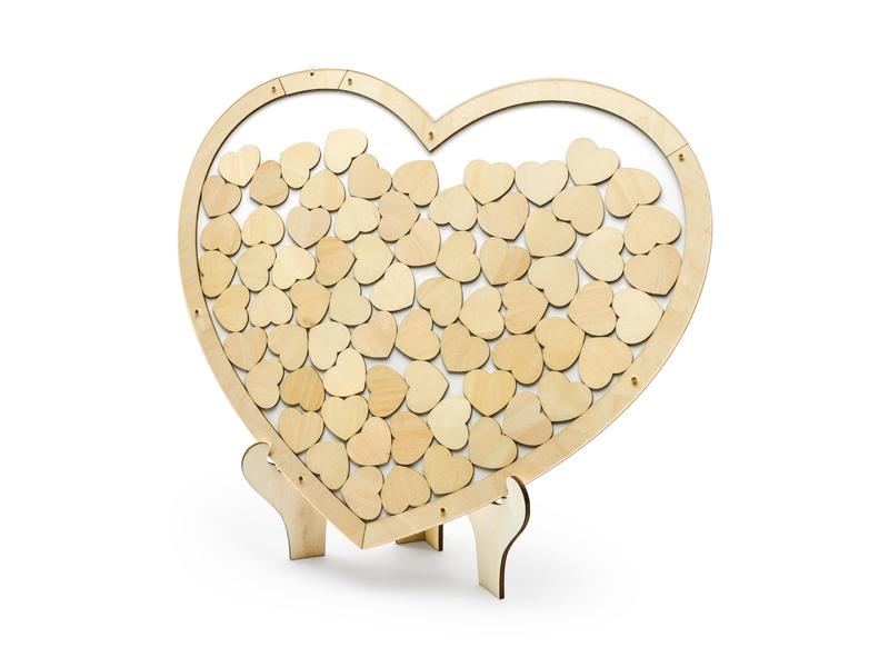 Svatební ozdoby a doplňky - Srdce na vzkazy