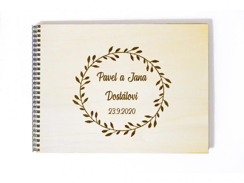 Svatební knihy a fotoalba - Svatební fotoalbum kruh