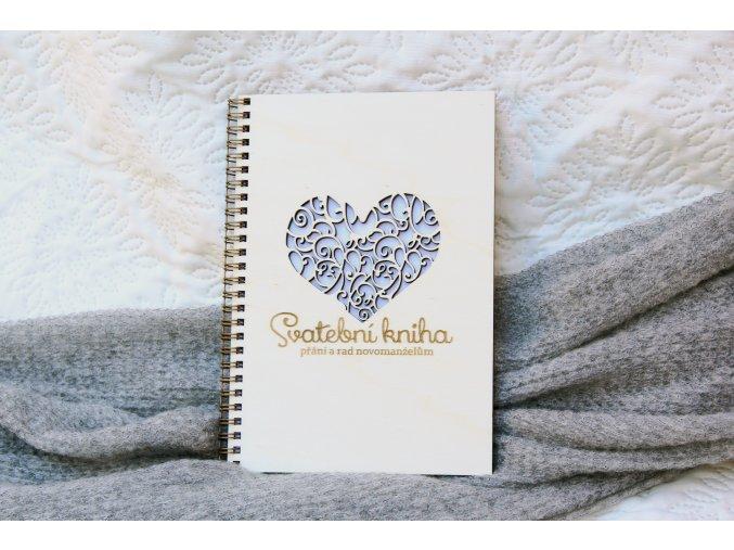Svatební knihy a fotoalba - Svatební kniha přání a rad srdce