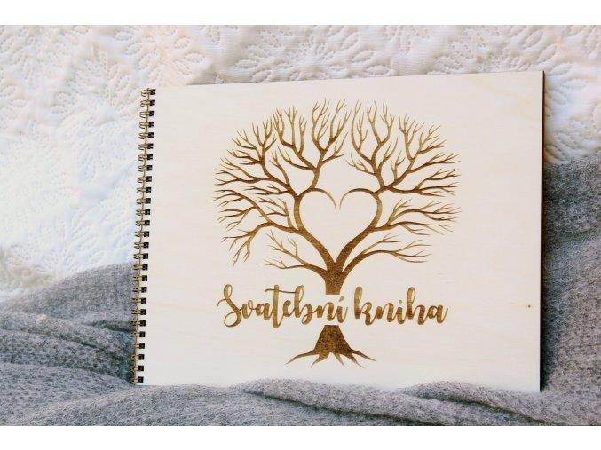 Svatební knihy a fotoalba - Svatební kniha přání a rad strom