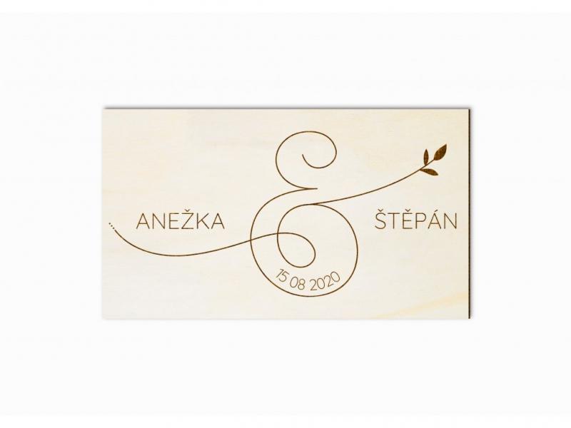 Svatební ozdoby a doplňky - Svatební magnet ampersand