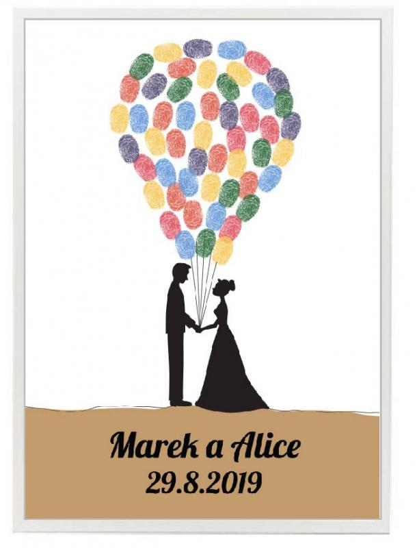 Svatební ozdoby a doplňky - Svatební strom balónky