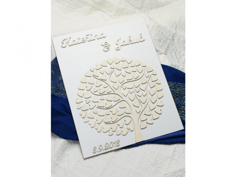 Svatební ozdoby a doplňky - Svatební strom - bílý podklad