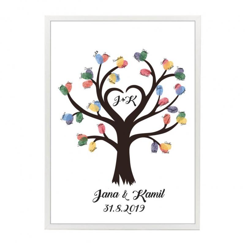Svatební ozdoby a doplňky - Svatební strom srdce