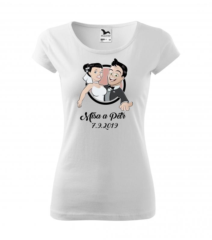Svatební trička - Tričko novomanželé - dámské