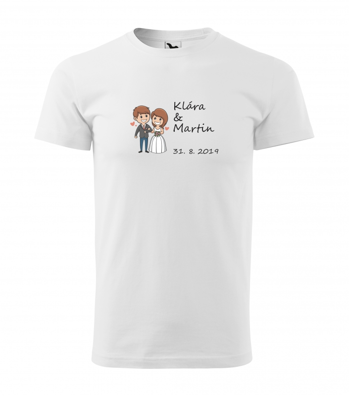 Svatební trička - Tričko zamilovaný pár - pánské