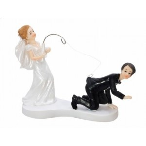 Figurka na dort - nevěsta s prutem