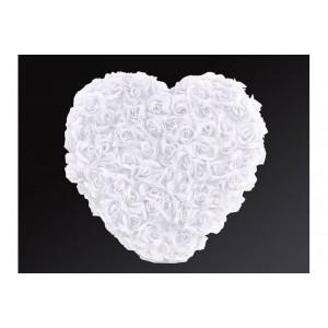 Květinové srdce - bílá