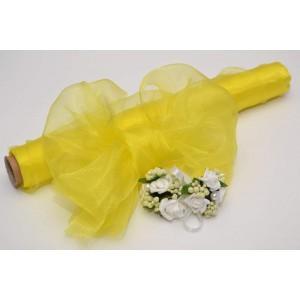 Dekorační organza - žlutá