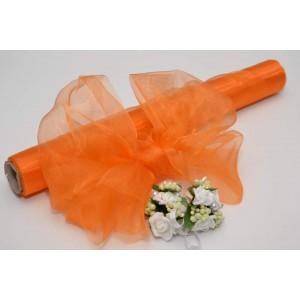 Dekorační organza - oranžová