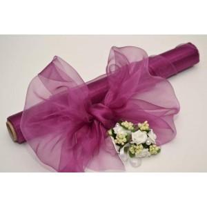 Dekorační organza - fialová švestka