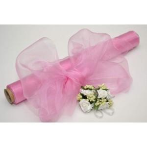 Dekorační organza - růžová