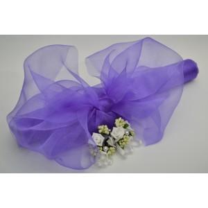 Dekorační organza - fialová