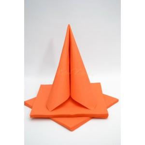 Třívrstvé ubrousky - oranžová