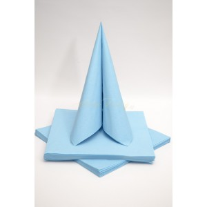 Třívrstvé ubrousky - světle modrá