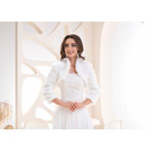 Svatební kožíšek - bílá
