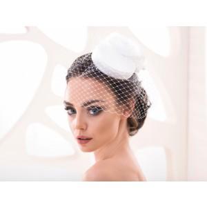 Svatební klobouček se síťkou