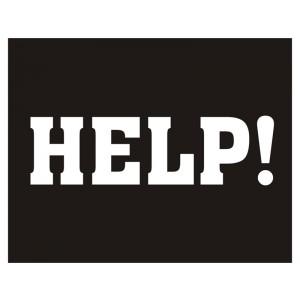 Nálepky Help!
