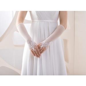 Zdobené svatební rukavičky