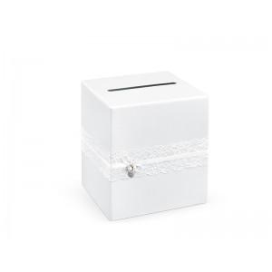 Krabička na přání s krajkou