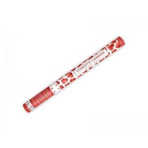 Vystřelovací konfety - červená srdíčka