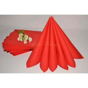 Dvouvrstvé ubrousky - červená