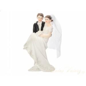 Figurka na dort - nevěsta v náručí