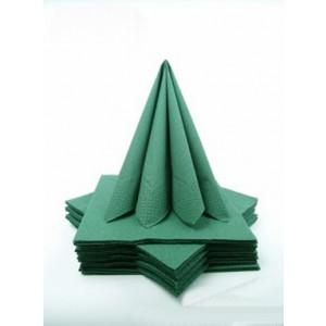 Třívrstvé ubrousky - tmavě zelená