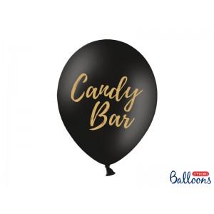 Černý balónek s nápisem Candy bar