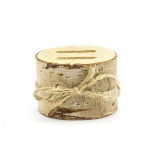 Dřevěný špalíček na prstýnky