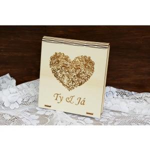 Krabička na fotografie a USB flashdisk - Ty & já