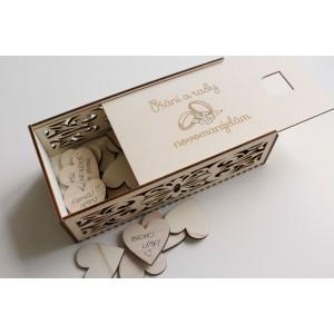 Krabička na přání a vzkazy novomanželům