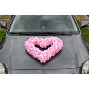 Květinové srdce - růžové