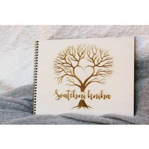 Svatební kniha přání a rad strom