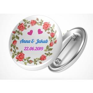 Svatební placka růže