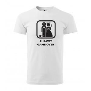 Tričko Game over s koulí