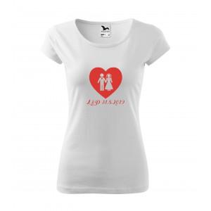 Tričko srdce - dámské