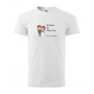Tričko zamilovaný pár - pánské