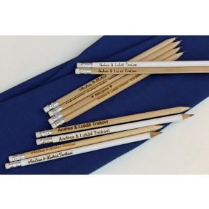 Tužky s vašimi jmény a datem svatby